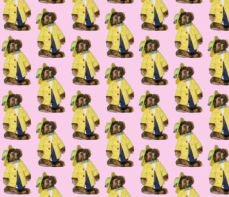 bear 1 -  in pink fabric by koalalady on Spoonflower - custom fabric