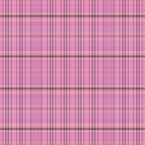 Pink Black Gold Plaid fabric by gingezel on Spoonflower - custom fabric