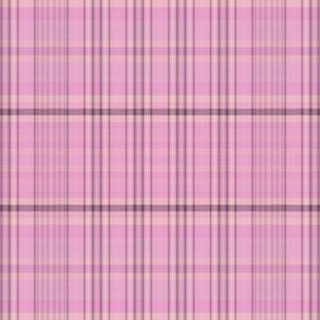 Pink Black Gold Plaid