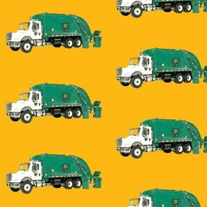 Tossed Garbage Trucks on  Golden Yellow