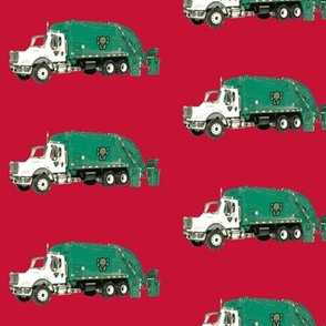 Tossed Garbage Trucks on Red