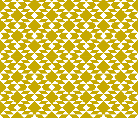 Geometric White on Gold Design fabric by sierra_gallagher on Spoonflower - custom fabric