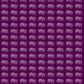 White Elephants on Purple