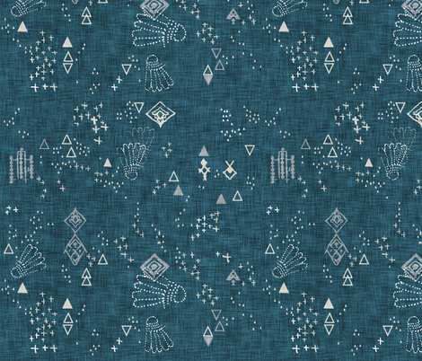 Markings (midnight) fabric by nouveau_bohemian on Spoonflower - custom fabric