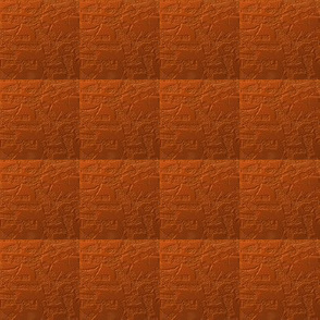 Rusty Orange in a Textured Quilted Repeat
