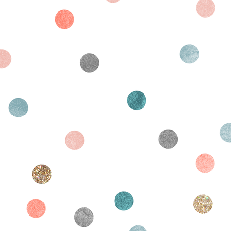 Glitter polka dots fabric by nouveau_bohemian on Spoonflower - custom fabric