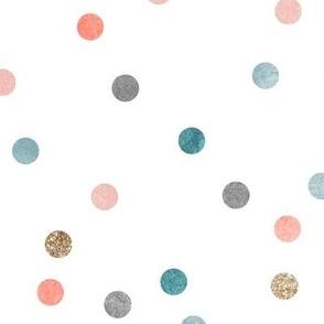 Glitter polka dots