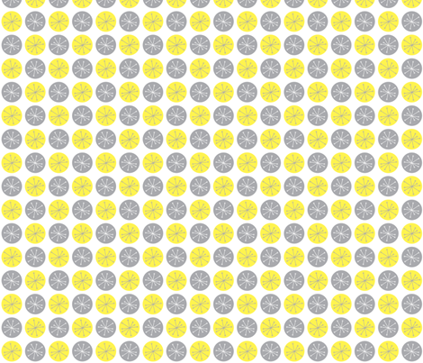 Atomic Dots Yellow fabric by speakeasyworks on Spoonflower - custom fabric