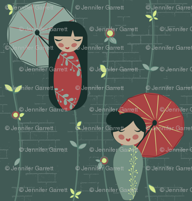 Japanese Garden Dolls