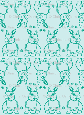 Baby Bunny Two Tone Blue