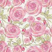 Floral English Rose Design