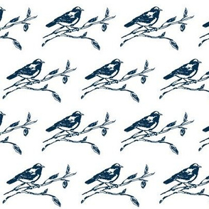 Bird Drawing (dark blue)