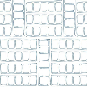 Squares Drawing (Blue on White)
