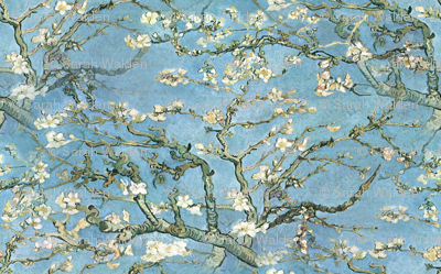 Vincent van Gogh ~ Branches of an Almond Tree in Blossom ~ Medium