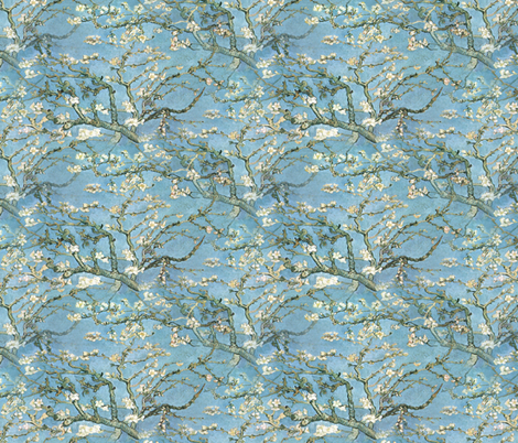 Vincent van Gogh ~ Branches of an Almond Tree in Blossom ~ Medium fabric by peacoquettedesigns on Spoonflower - custom fabric