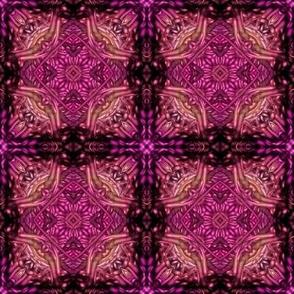 fuchsia lattice knit