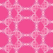 Intense Pink Pixel Geometric