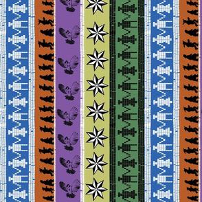 Cherokee pattern strips