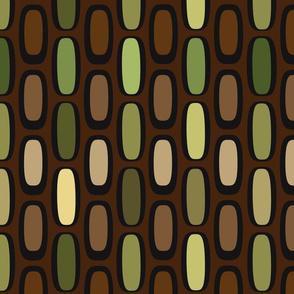 Atomic Ovals Brown