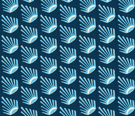 Cerulean Suns Grand fabric by brainsarepretty on Spoonflower - custom fabric