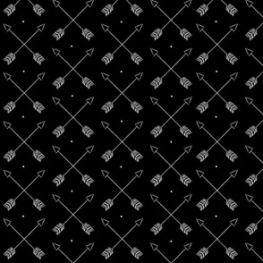 Arrows and Dots Black
