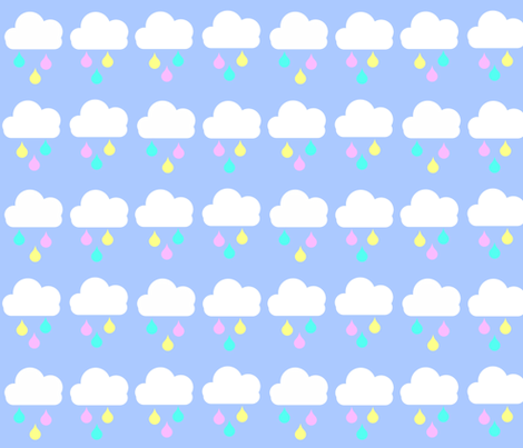 Pastel Raindrops fabric by sunshineandspoons on Spoonflower - custom fabric
