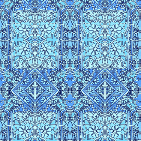 Stained Glass Blues fabric by edsel2084 on Spoonflower - custom fabric