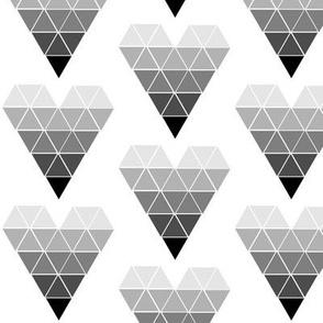 Silver Geometric Triangles