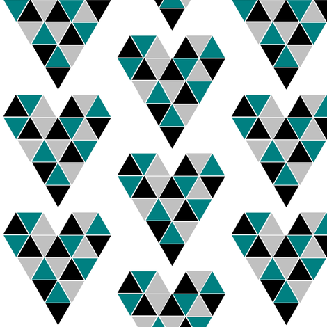 Falcons Geometric Triangles fabric by sunshineandspoons on Spoonflower - custom fabric