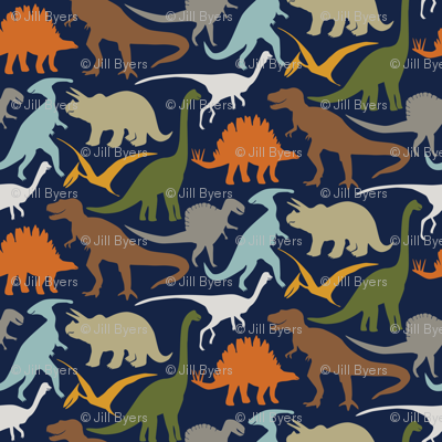 Little Dinosaur Friends - Colorful indigo
