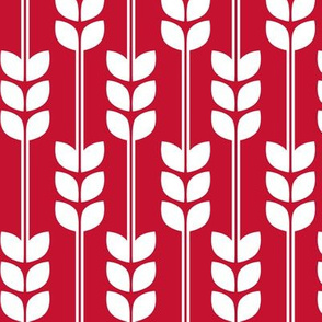 Wheat - White on Red