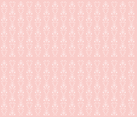Pink & White Flower Damask Repeat  fabric by azumii on Spoonflower - custom fabric