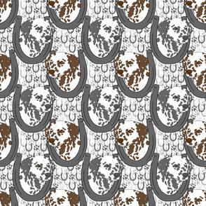 Dalmatian horseshoe portraits
