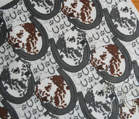 Dalmatian horseshoe portraits - small
