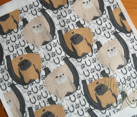 Pekingese horseshoe portraits - small