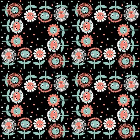 Flower Dots fabric by heidikenney on Spoonflower - custom fabric