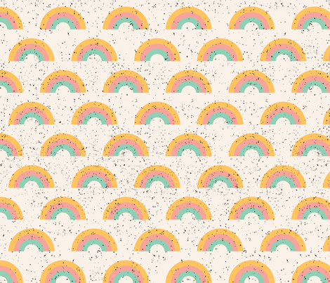 Rainbow sherbet fabric by tramake on Spoonflower - custom fabric