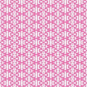 Clover Leaf Pink/White