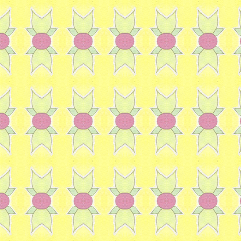 Pink Berries on Yellow fabric by lilafrances on Spoonflower - custom fabric