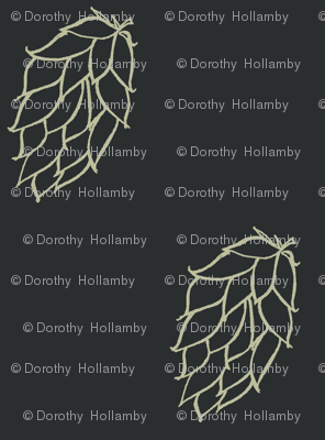 Old Linen Hop Diagonals on Charcoal