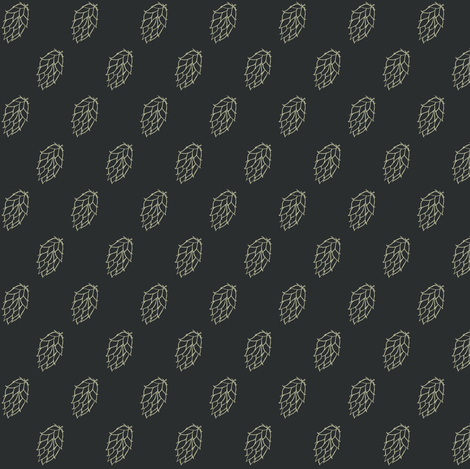 Old Linen Hop Diagonals on Charcoal fabric by a_bushel_of_hops on Spoonflower - custom fabric
