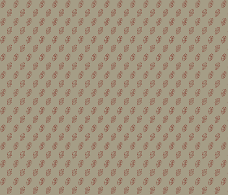Red Hop Diagonals on Old Linen fabric by a_bushel_of_hops on Spoonflower - custom fabric