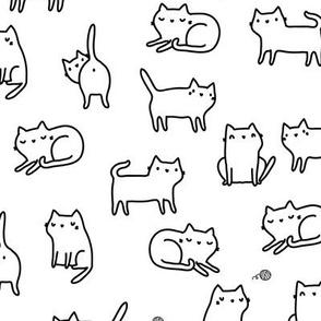 Cute kitty cats MEDIUM scale
