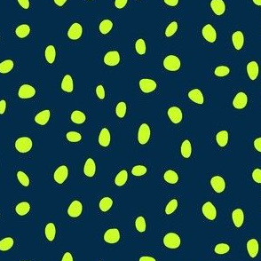 dalmation dots lime on navy