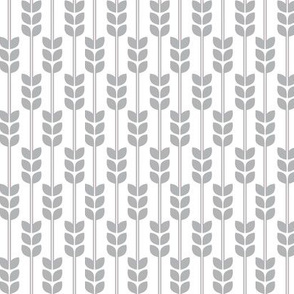 Wheat -Grey on White, Small