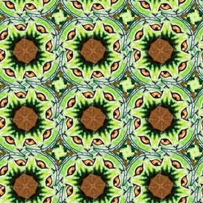 Cheshire Cats Kaleidoscope Circles Pinwheel Brown