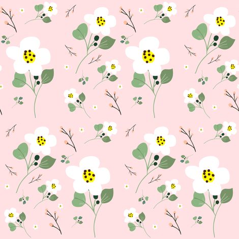 Sweet Daisy - Pink  fabric by shopcabin on Spoonflower - custom fabric