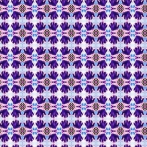 Cheshire Cats Kaleidoscope Circles Purrfect Purple Paws INVERTED