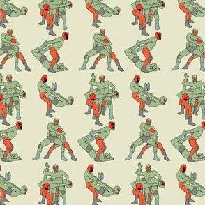 Wrestlers green