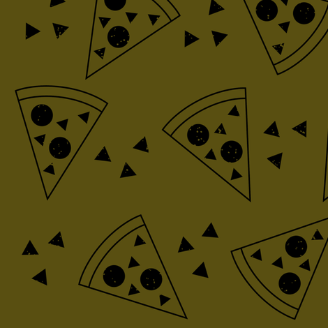 Geo Pizza olive fabric by tramake on Spoonflower - custom fabric